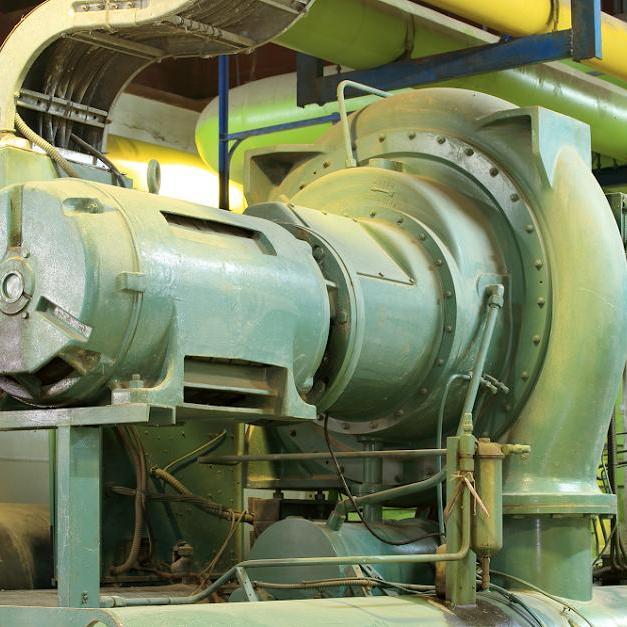 Compresor centrífugo verde grande