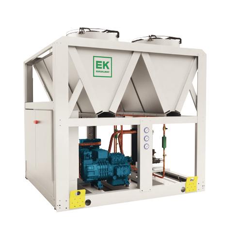 Enfriadora de propano blanco y azul para mantenimiento y reparación de servicios