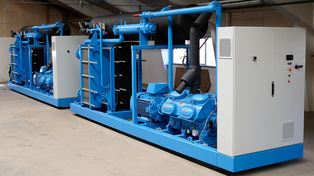 Enfriadora agua agua azul para mantenimiento y reparación